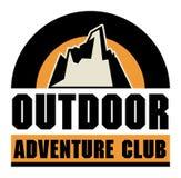 Mountain adventure sign Stock Photography