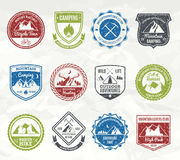 Mountain Adventure Stamps Royalty Free Stock Photo