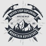 Mountain Adventure vintage label, badge, logo or emblem. Vector illustration.  vector illustration