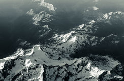Mountain aerial from airplane stock photos