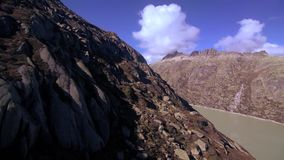 Mountain aerial view beautiful landscape alps rocks stock footage