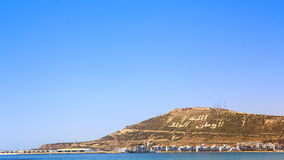 The Mountain in Agadir, Morocco Royalty Free Stock Photos