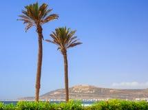 The Mountain in Agadir, Morocco. God, Fatherland, King caption on the Mountain in Agadir, Morocco Royalty Free Stock Photos