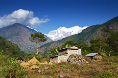 Mountain Agricultural landscape of Nepal Royalty Free Stock Image