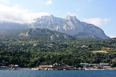 Mountain Ai-Petri. View from the sea royalty free stock photography