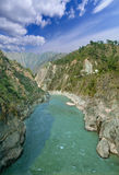 Mountain Alaknanda river in a deep canyon, Gaucher Stock Images