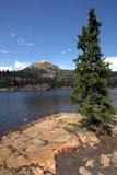 Mountain and alpine lake Royalty Free Stock Photo
