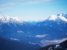 Mountain Alpine landscape Europe Austrian winter Royalty Free Stock Photo