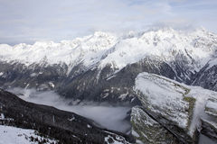 Mountain alpine landscape in winter Stock Photography