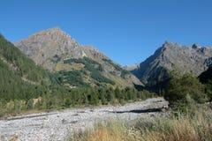 Mountain in Alps. Landscape (Champoléon valley and Parières peak) in Champsaur,Hautes-Alpes,Provence-Alpes-Côte d'Azur region of france Stock Photo
