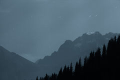 The mountain Alps in the night. Royalty Free Stock Photo
