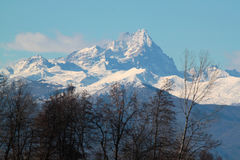 Mountain alps. View of snowy mountain alps Stock Photos