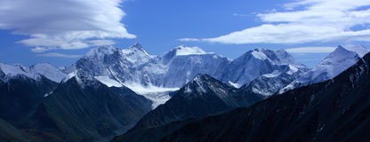 Mountain Altai. A kind on the White whale from pas Royalty Free Stock Image