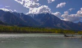 Mountain Altai mountain lake Stock Image