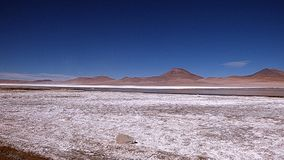 Mountain in Altiplano. Bolivia, south America. Royalty Free Stock Photography