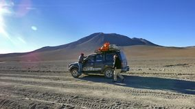 Mountain in Altiplano. Bolivia, south America. Royalty Free Stock Images