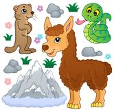 Mountain animals theme collection 1. Eps10 vector illustration royalty free illustration