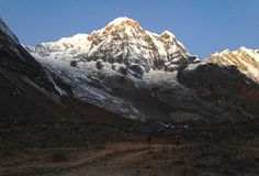 Mountain Annapurna and Annapurna Base Camp. Nepal royalty free stock photos