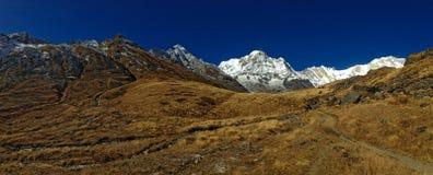 Mountain Annapurna and Annapurna Base Camp. Nepal stock image