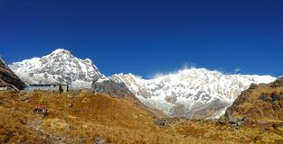 Mountain Annapurna and Annapurna Base Camp. Nepal royalty free stock images