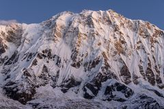 Mountain Annapurna south face stock photo