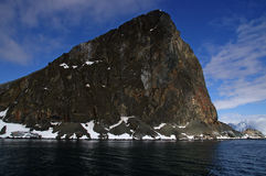 Mountain Antarctic peninsula. A mountain near Orne Harbour on the Antarctic peninsula stock photography