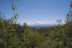 Mountain Ararat from Byurakan Royalty Free Stock Images