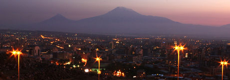 Mountain Ararat. Mountain Ararat, city Yerevan, Armenia Royalty Free Stock Photos