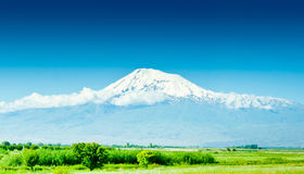 Mountain Ararat. In sunny day Royalty Free Stock Images