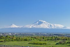 Mountain Ararat. View from Yerevan , Armenia Royalty Free Stock Images