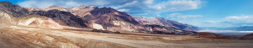 Mountain area near Artists Drive in Death Valley National Park. Panoramic view of mountain area near Artists Drive in Death Valley National Park. California Royalty Free Stock Image