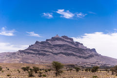 Mountain in an arid landscape Stock Image