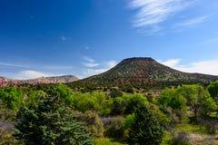 Mountain at the Arizona. Mountain looks like volcano with plants around.  Arizona, USA Stock Photo