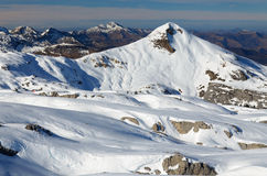 Mountain Arles of the Atlantic Pyrenees in winter Stock Photography