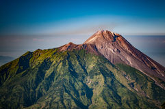 Mountain of ashes in Java. Photo of Mt. Merbabu, also called mountain of ashes, which is dormant stratovolcano near Yogya in central Java province in Indonesia Stock Images