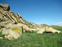Mountain  in asiatic steppe. Mountain array in asiatic steppe Royalty Free Stock Photos