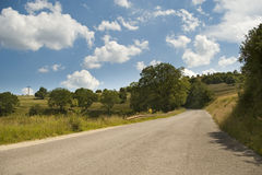 Mountain asphalt curve road Stock Photography