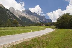 Mountain asphalt curve road Royalty Free Stock Photos