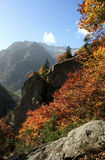 Mountain in Autumn Royalty Free Stock Photography