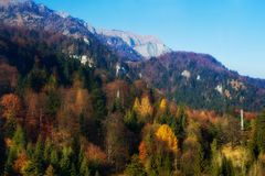 Mountain in autumn Stock Images
