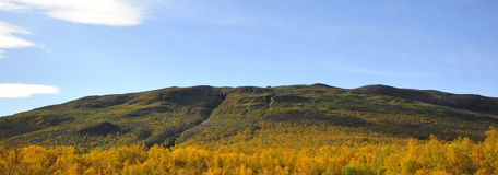 Mountain in autumn Stock Photo