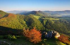 The mountain autumn landscape Stock Photography