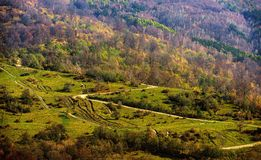 Mountain autumn landscape Stock Images