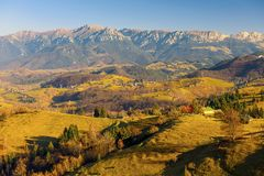 Mountain autumn landscape Stock Photography