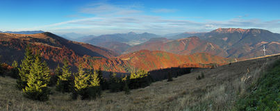 The mountain autumn landscape - panoramic Royalty Free Stock Image