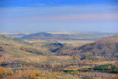 Mountain autumn landscape. The Mountain autumn in Ural mountains Royalty Free Stock Image