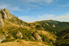 Mountain during autumn Royalty Free Stock Images