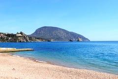 Mountain Ayu-Dag. Crimean Peninsula, RUSSIA  Black sea coast, views of Gurzuf, mountain Ayu-Dag Royalty Free Stock Photo