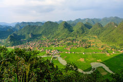 Mountain at Bac Son Royalty Free Stock Photography