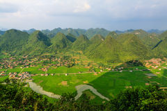Mountain at Bac Son. Sunrise at Bac Son town, Lang son province, Vietnam royalty free stock photos